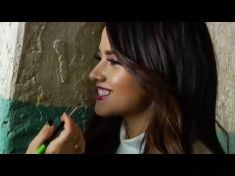 "Becky G's Pink Lips and Cat Eye Makeup from ""Can't Stop Dancin"" 